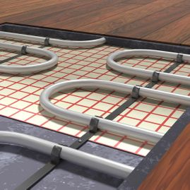 view of some underfloor heating